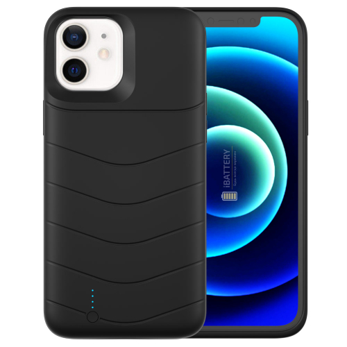 Чехол батарея для iPhone 12 5000 mAh black iBattery