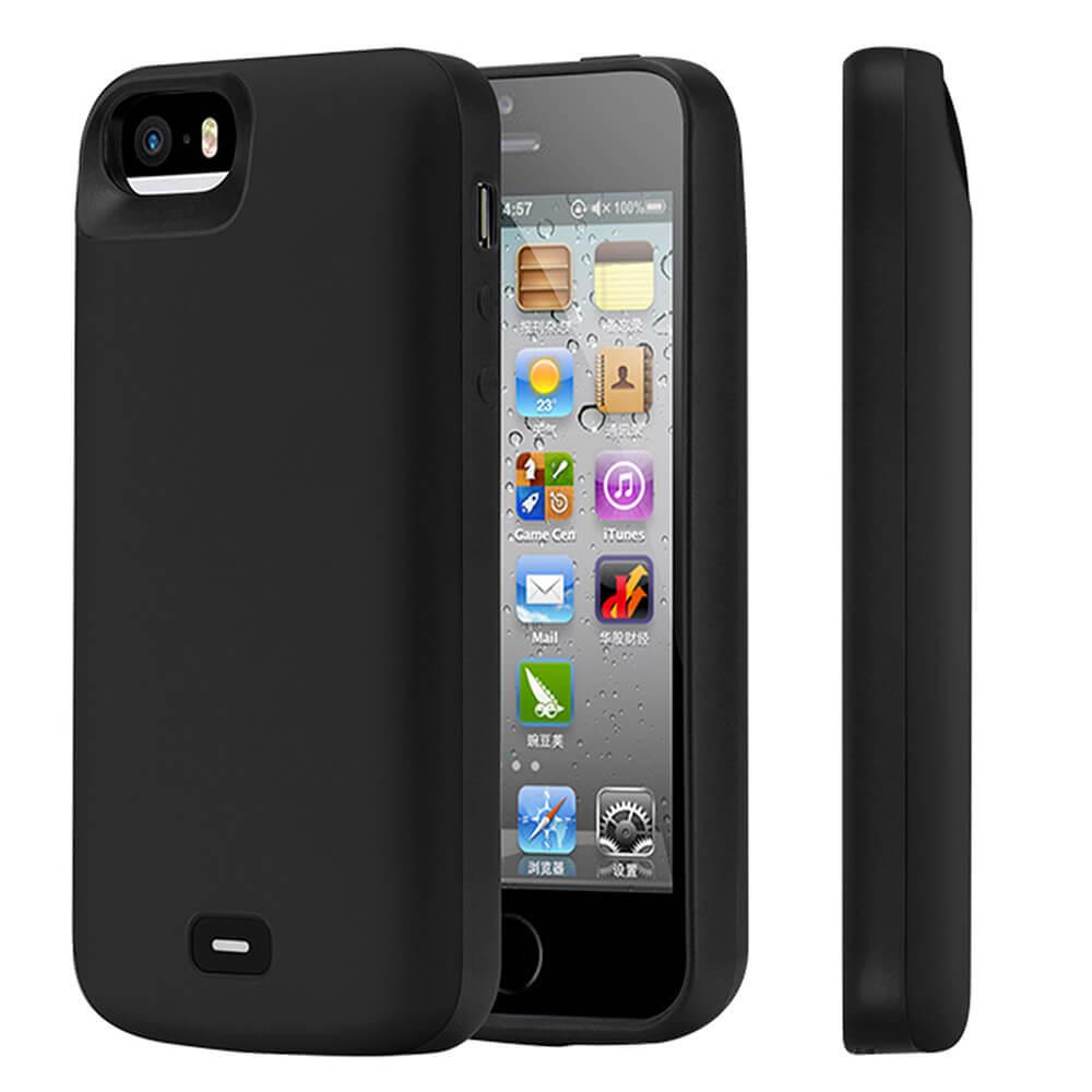 Чехол аккумулятор для iPhone 5/5s/SE 4000 mAh black iBattery