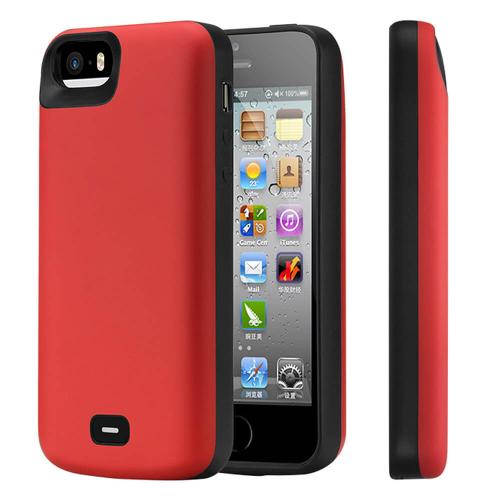 Чехол аккумулятор для iPhone 5/5s/SE 4000 mAh red iBattery