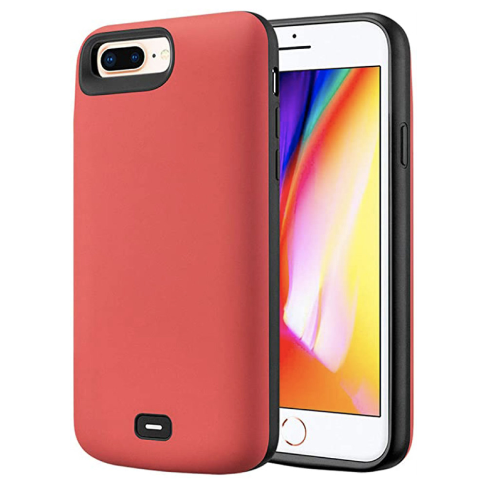 Чехол  powerbank для iPhone 6+/6s+/7+/8 Plus 8000 mAh red