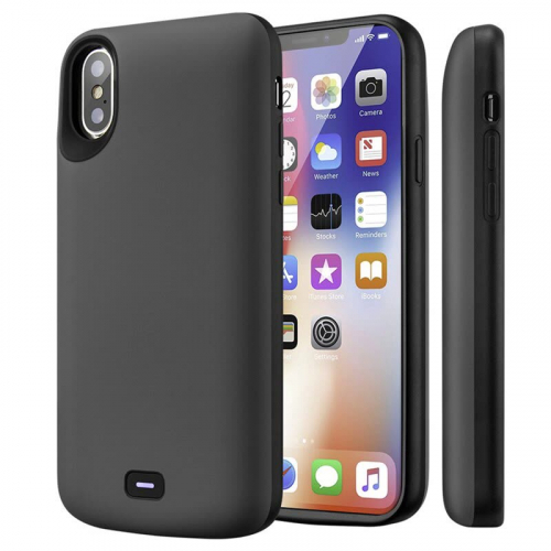 Чехол аккумулятор для iPhone X/XS 5000 mAh gray iBattery