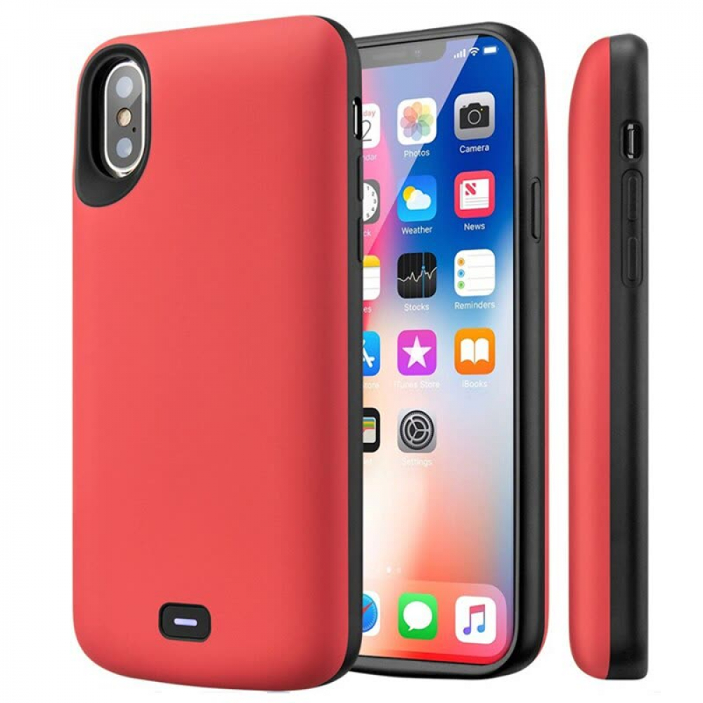 Чехол аккумулятор для iPhone X/XS 5000 mAh red iBattery