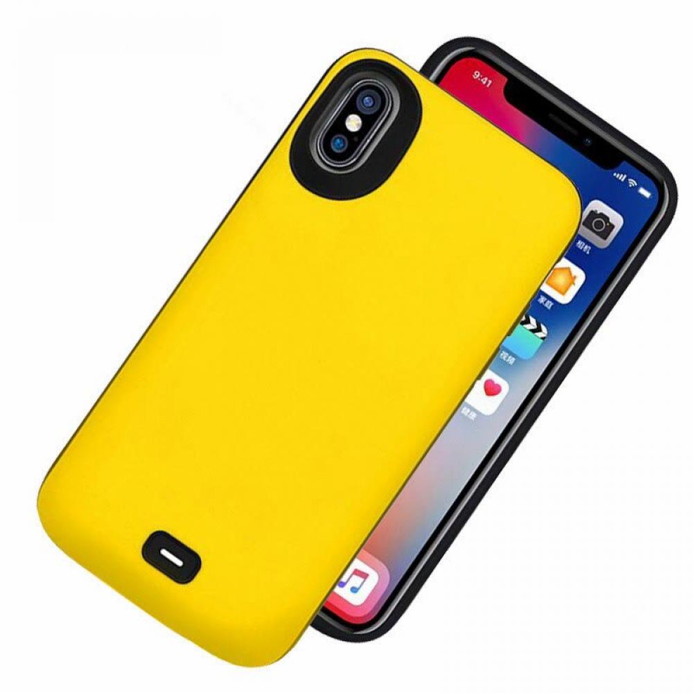 Чехол аккумулятор для iPhone X/XS 5000 mAh yellow iBattery