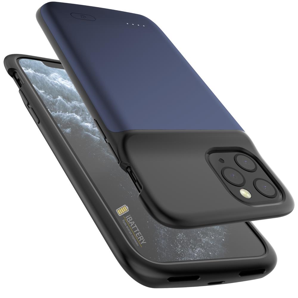 Чехол аккумулятор для iPhone 11 Pro 5000 mAh blue