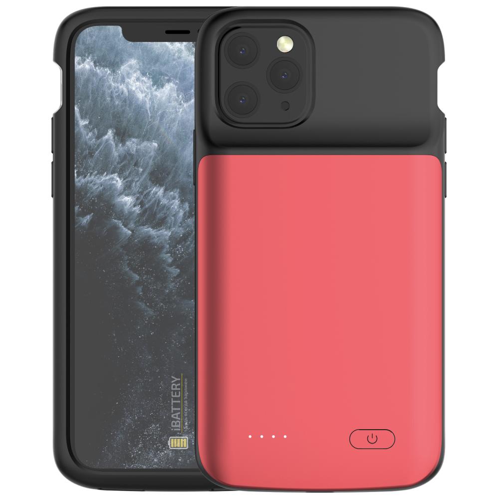 Чехол аккумулятор для iPhone 11 Pro Max 5000 mAh red