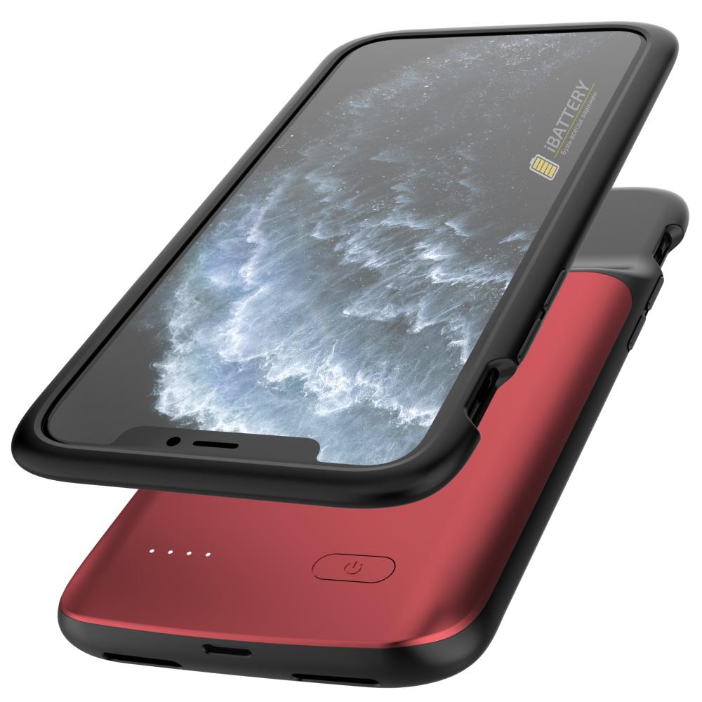 Чехол аккумулятор для iPhone 11 Pro 4800 mAh red