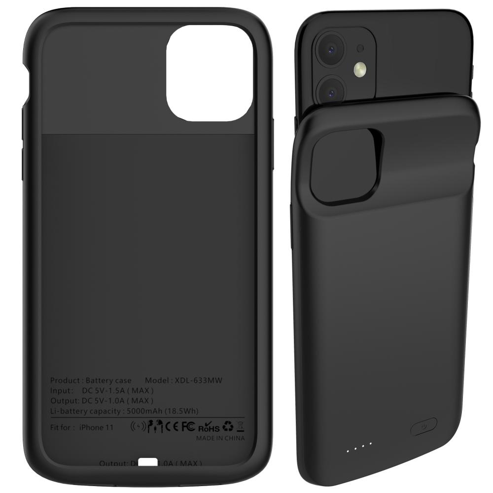 Чехол аккумулятор для iPhone 11 5000 mAh black