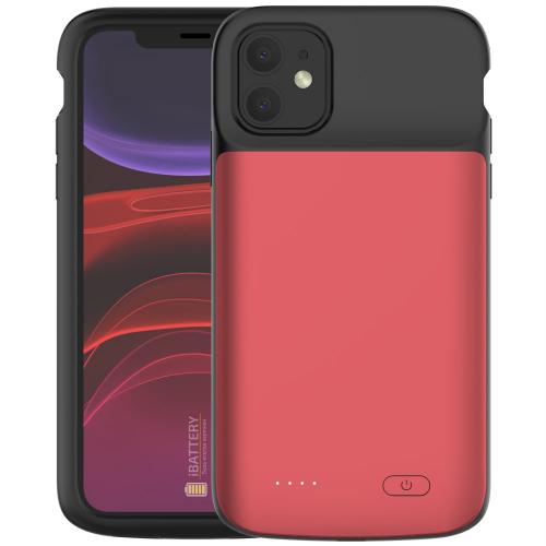 Чехол аккумулятор для iPhone 11 5000 mAh red
