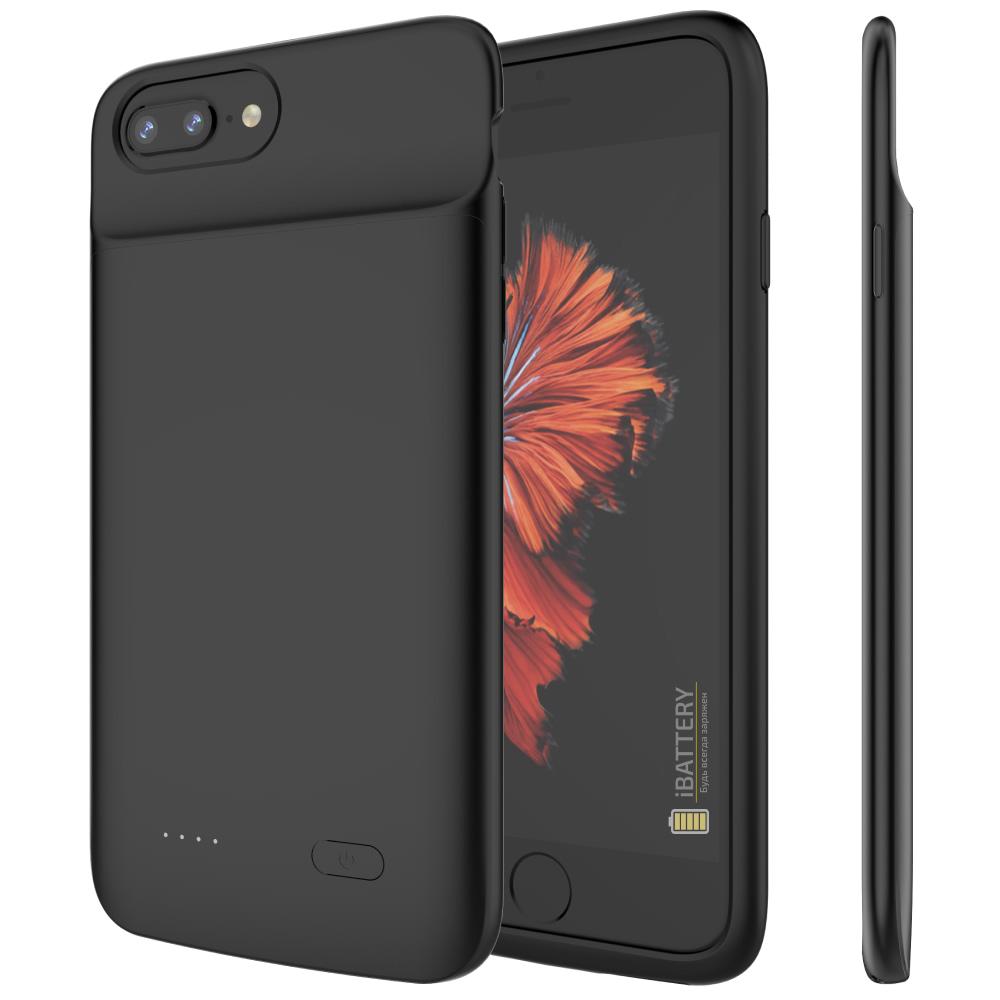 Чехол аккумулятор для iPhone 6+/6s+/7+/8+ Plus 5000 mAh black