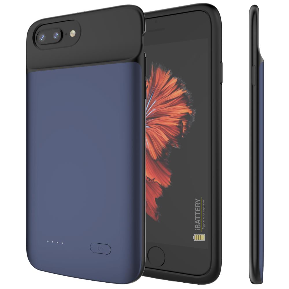 Чехол аккумулятор для iPhone 6+/6s+/7+/8+ Plus 5000 mAh blue