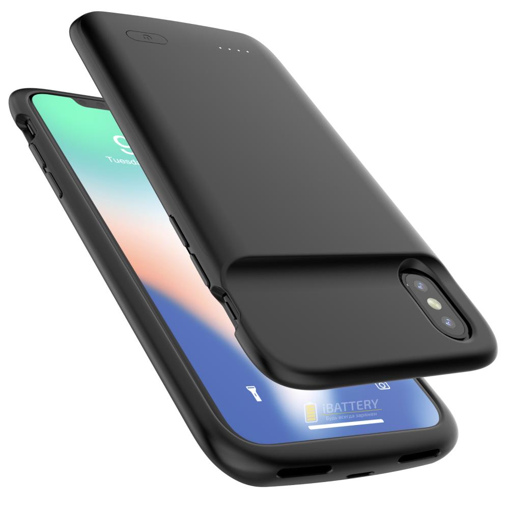 Чехол аккумулятор для iPhone X/XS 4100 mAh black