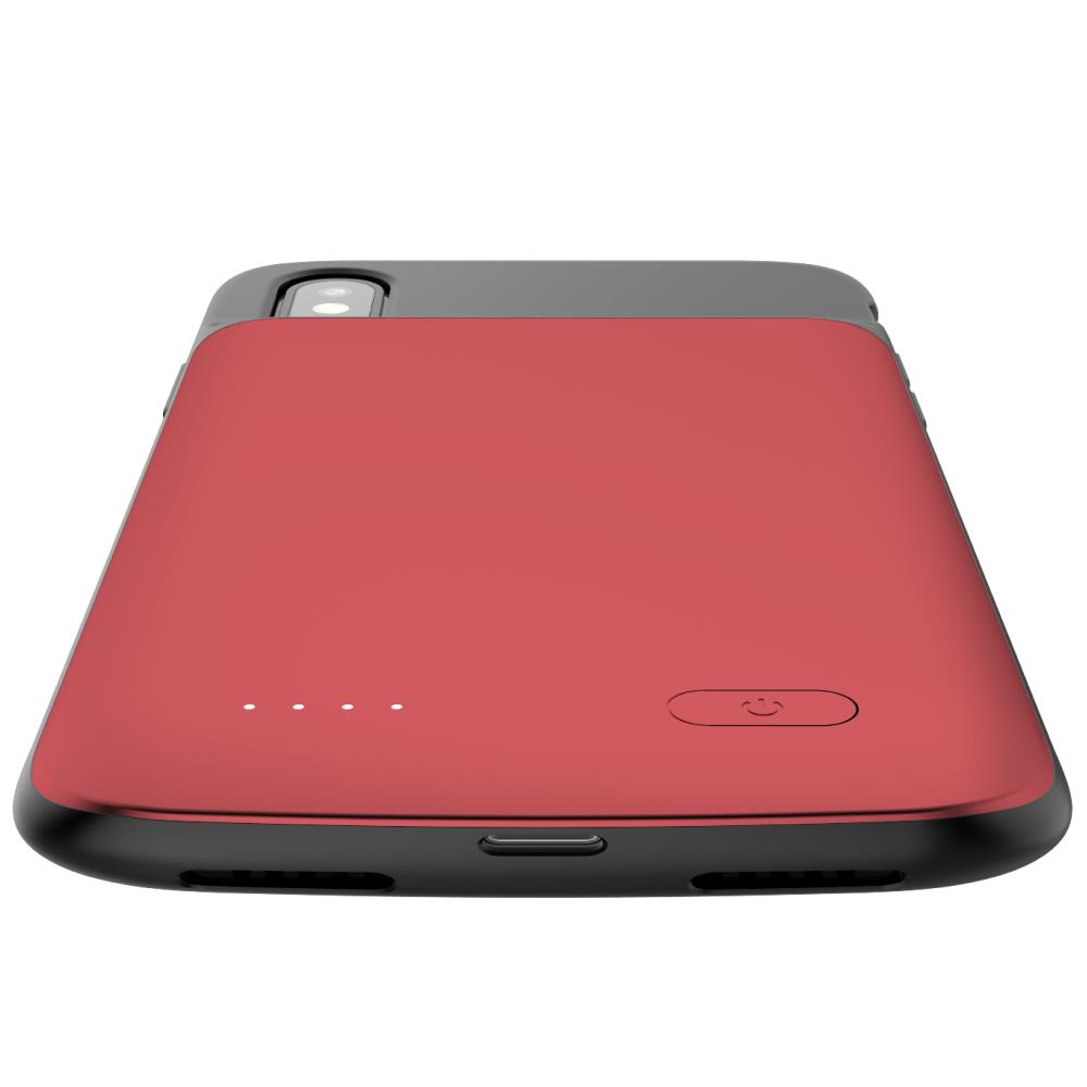 Чехол аккумулятор для iPhone X/XS 4100 mAh red