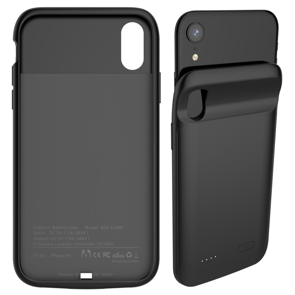 Чехол аккумулятор для iPhone XR 5000 mAh black