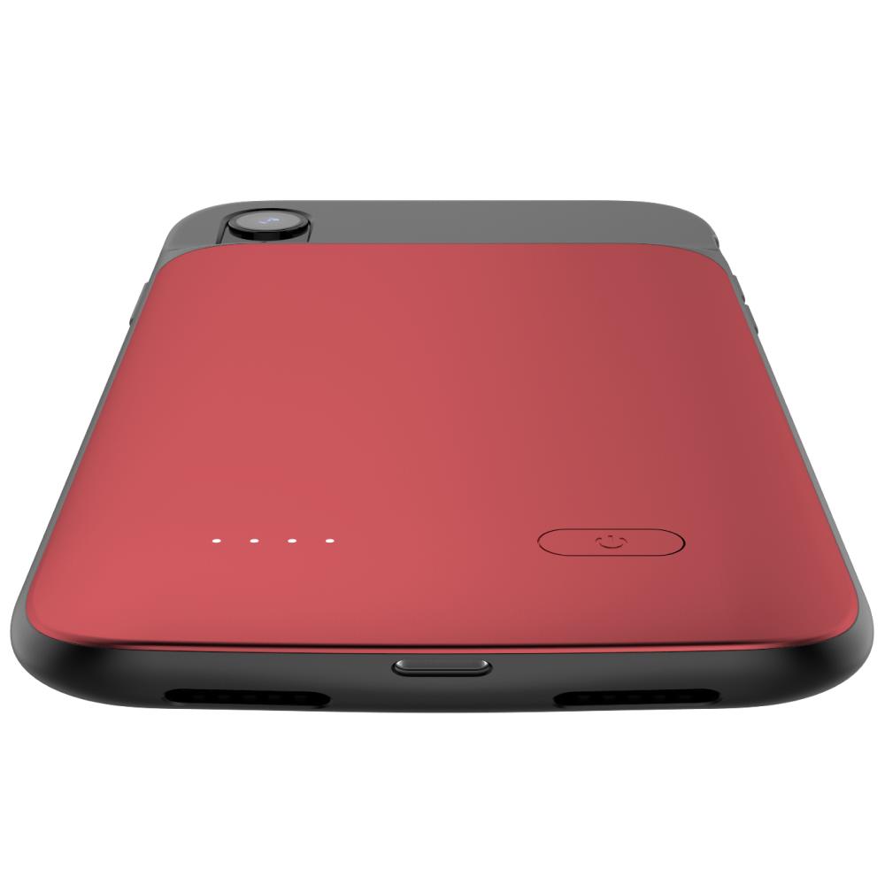 Чехол аккумулятор для iPhone XR 5000 mAh red
