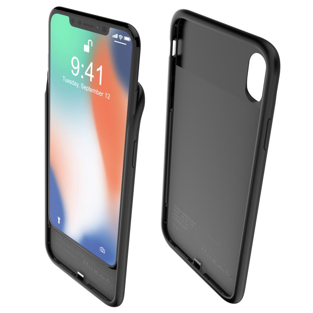Чехол зарядка для iPhone Xs Max 5000 mAh black iBattery
