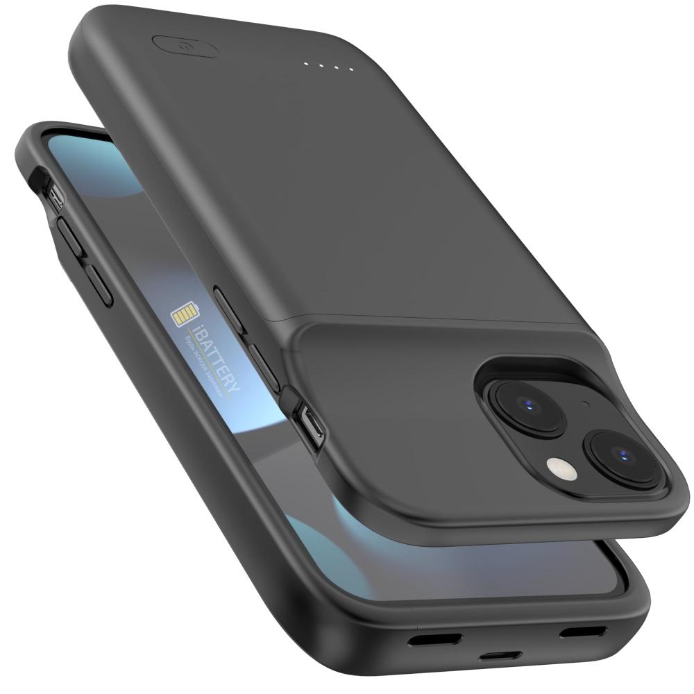 Чехол аккумулятор для iPhone 13 Mini 4700 mAh black