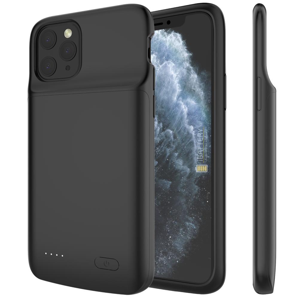 Чехол аккумулятор для iPhone 11 Pro Max  5000 mAh black