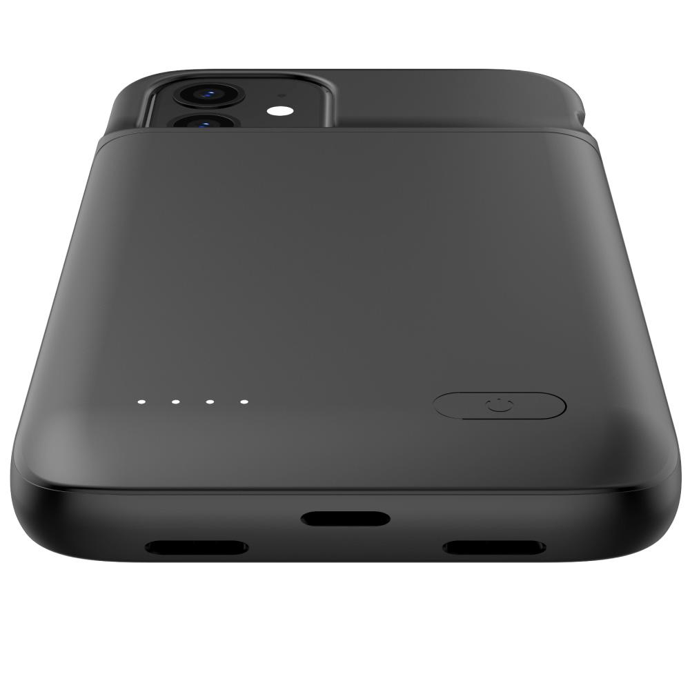 Чехол аккумулятор для iPhone 12 Mini 4700 mAh black