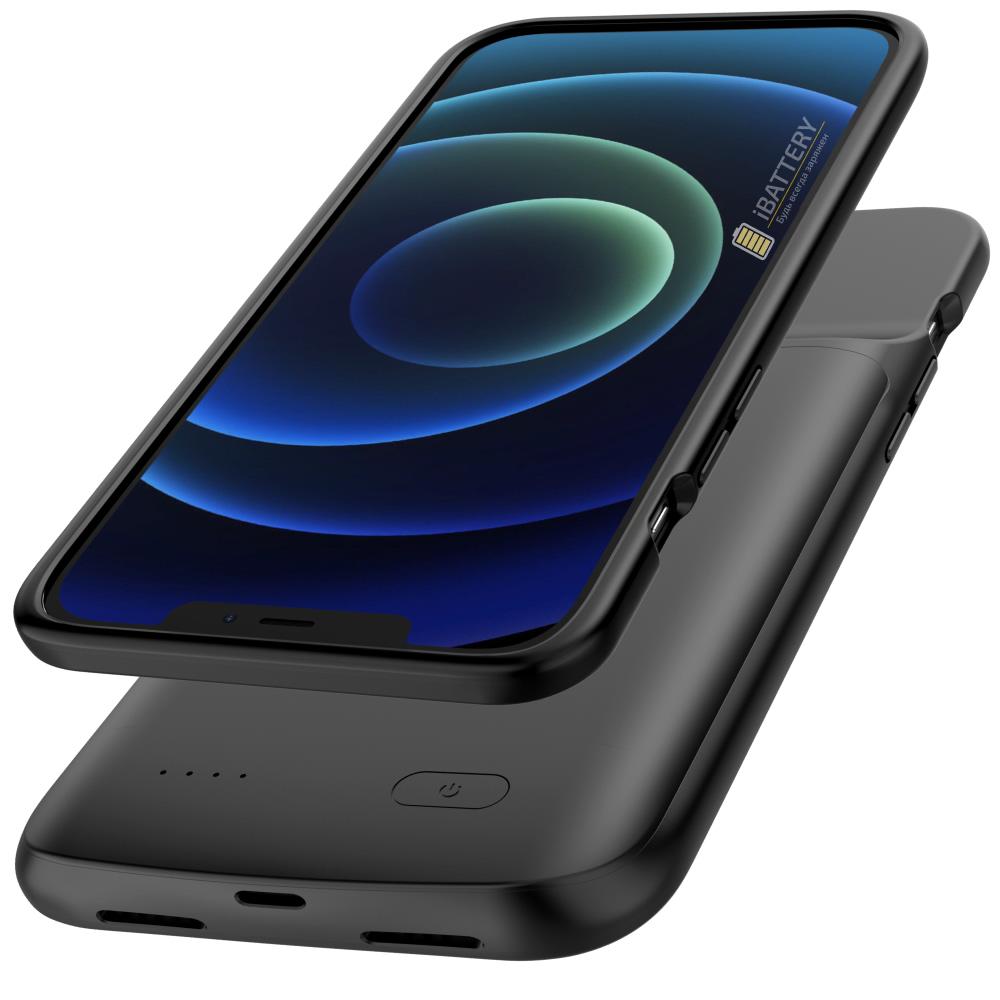 Чехол аккумулятор для iPhone 12 Pro Max 4800 mAh black