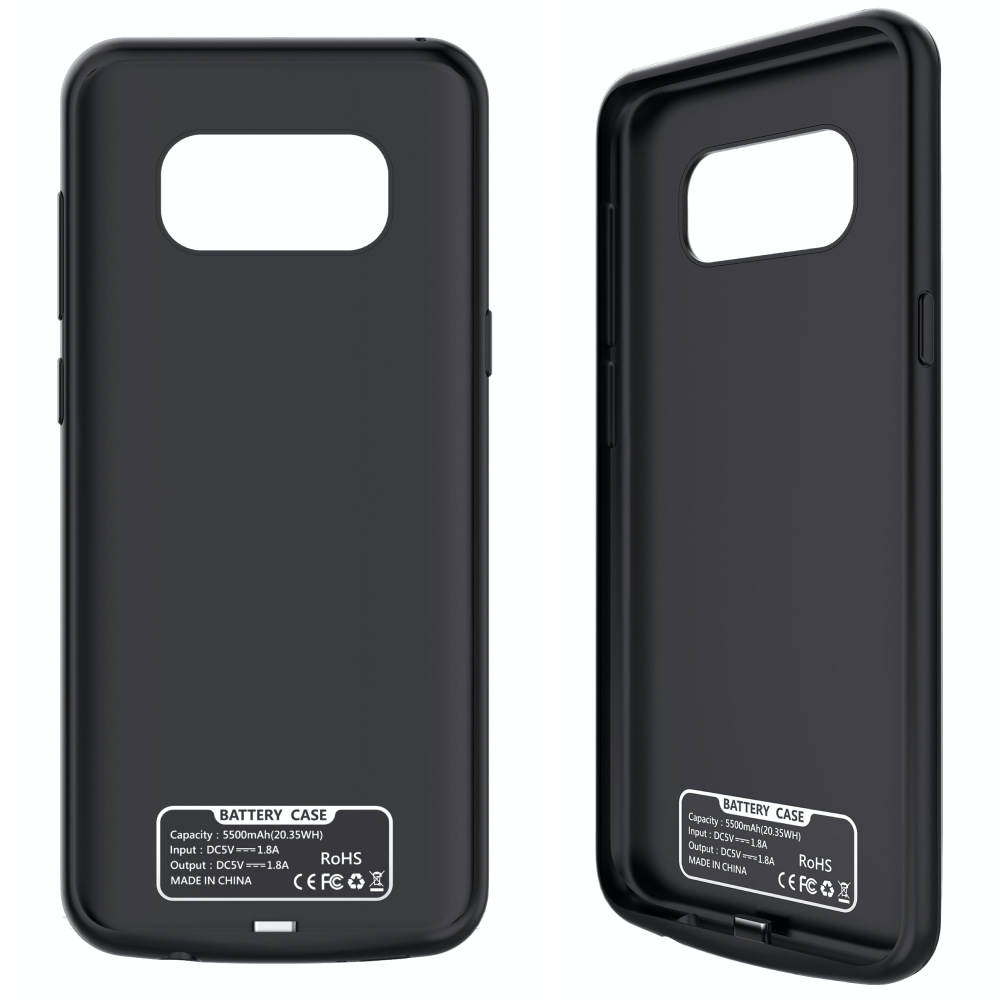 Чехол батарея для Samsung S8+ 5500 mAh black iBattery