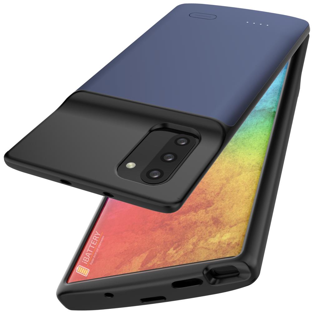 Чехол зарядка для Samsung Note 10 5200 mAh blue iBattery