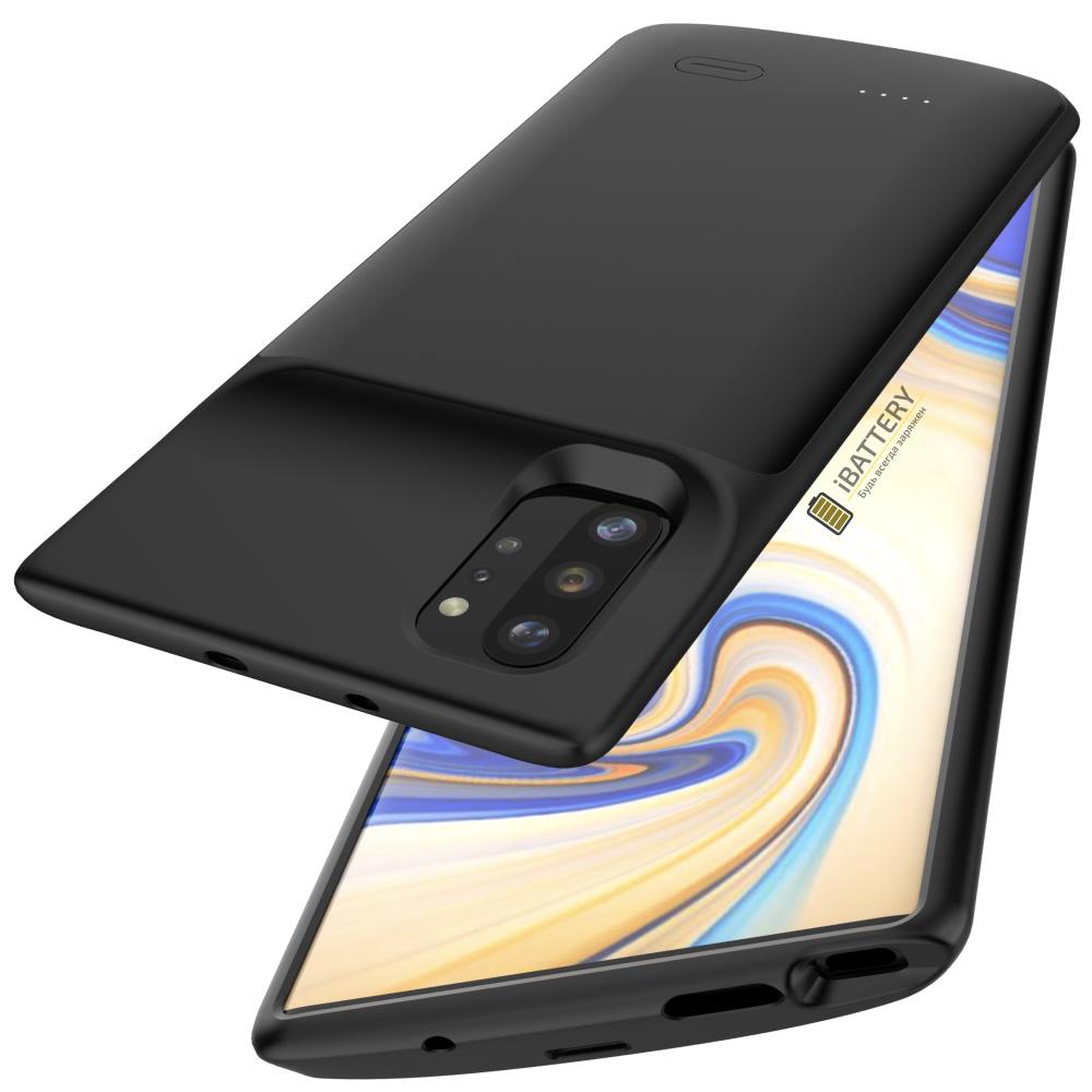 Чехол аккумулятор для Samsung Note 10 Plus 6000 mAh black iBattery