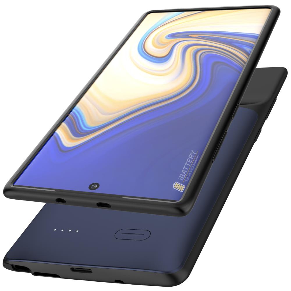 Чехол аккумулятор для Samsung Note 10 Plus 6000 mAh blue iBattery