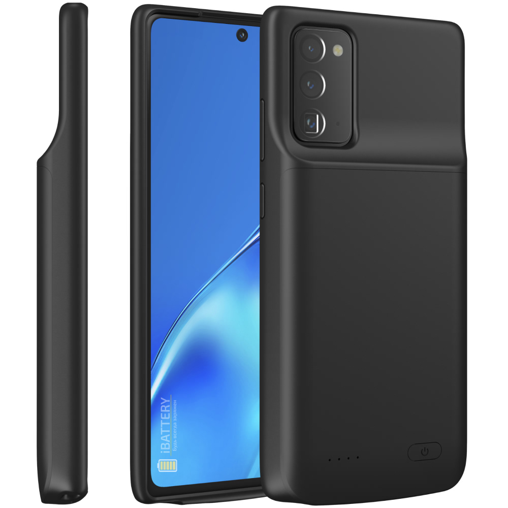 Чехол батарея для Samsung Note 20 black 6000 mAh iBattery