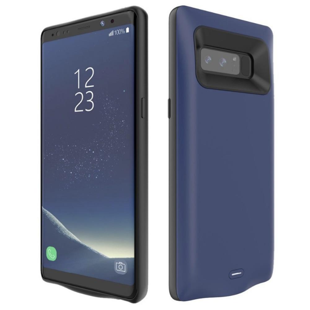 Чехол зарядка для Samsung Note 8 blue 5500 mAh iBattery