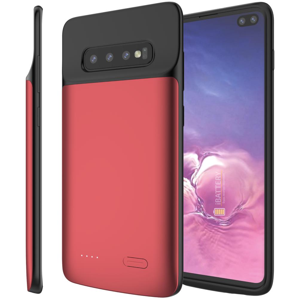 Чехол зарядка для Samsung S10 Plus 5000 mAh red iBattery