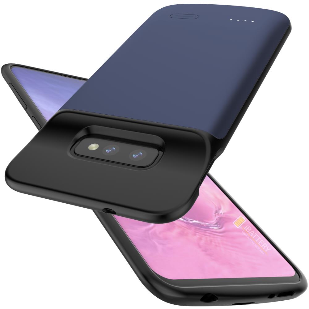 Чехол зарядка для Samsung S10e 4700 mAh blue iBattery