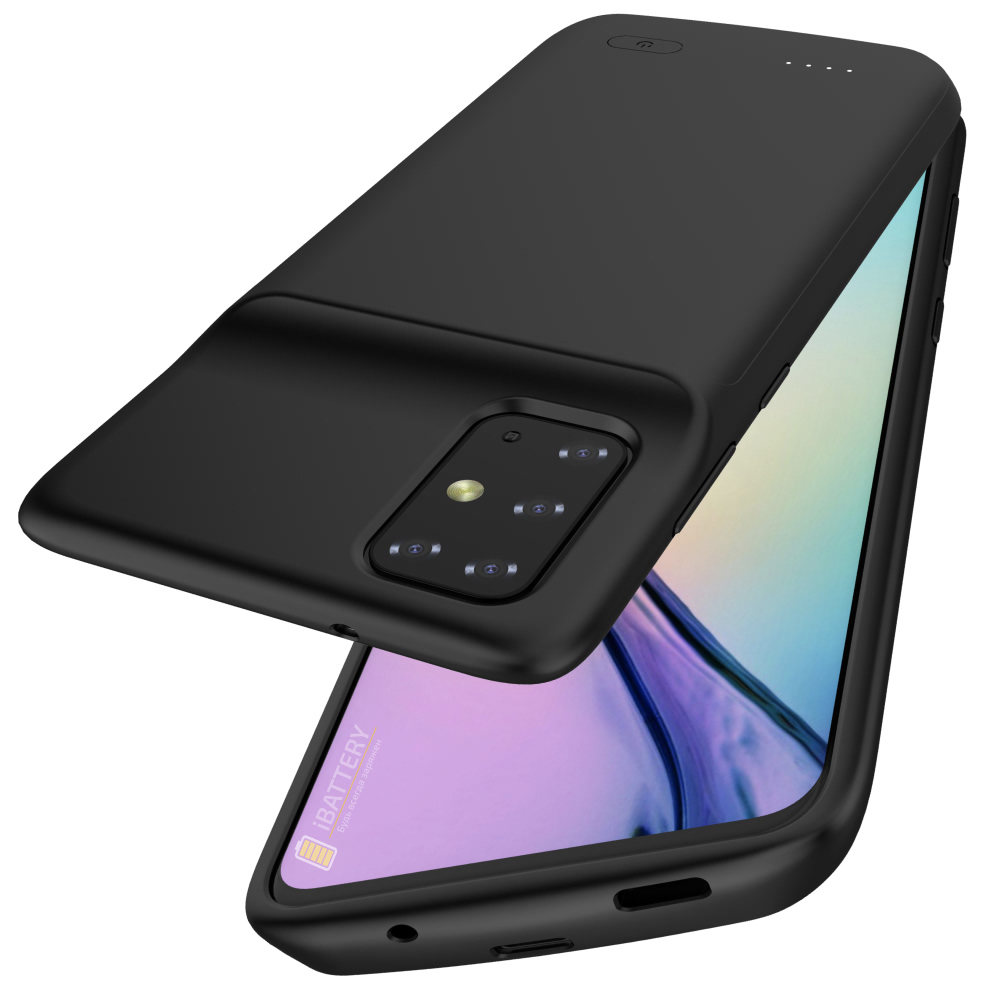 Чехол батарея для Samsung S20 Plus black 6000 mAh iBattery