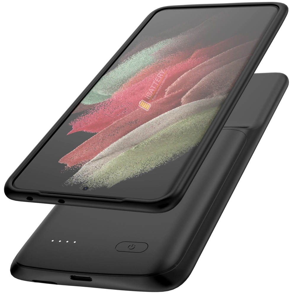 Чехол зарядка для Samsung S21 Ultra black 4700 mAh iBattery