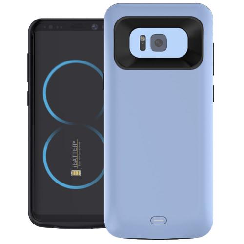 Чехол батарея для Samsung S8 5000 mAh blue iBattery