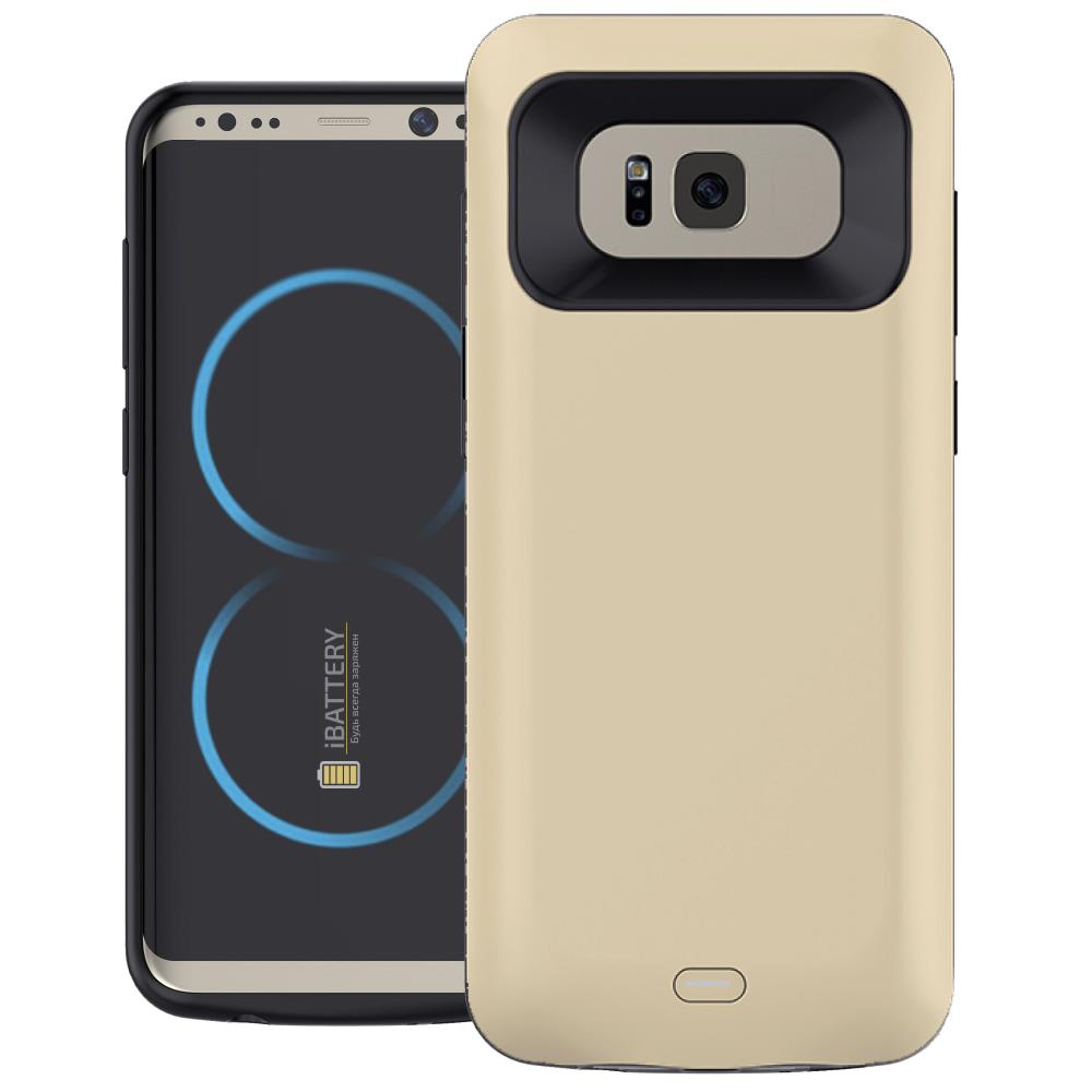 Чехол батарея для Samsung S8 5000 mAh gold iBattery