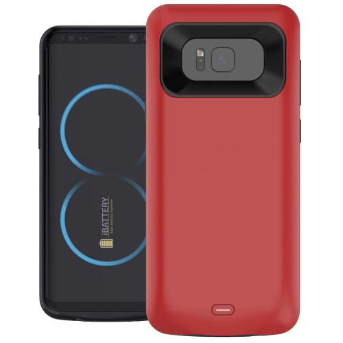 Чехол батарея для Samsung S8 5000 mAh red iBattery
