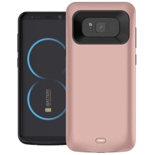 Чехол батарея для Samsung S8 5000 mAh roze gold iBattery