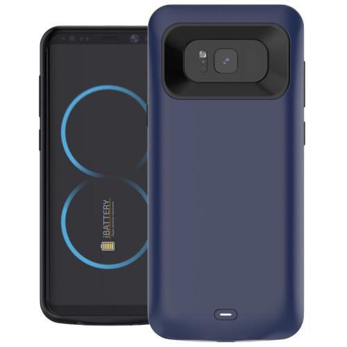 Чехол батарея для Samsung S8 5000 mAh dark blue iBattery