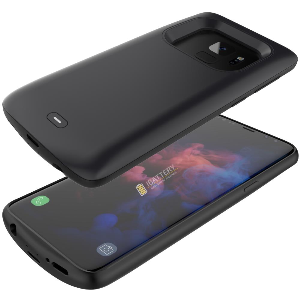 Чехол аккумулятор для Samsung S9 4700 mAh black iBattery