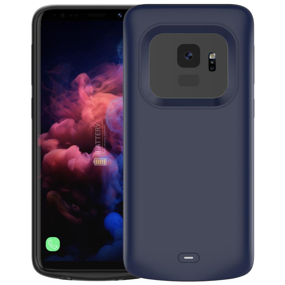 Чехол аккумулятор для Samsung S9 4700 mAh blue iBattery