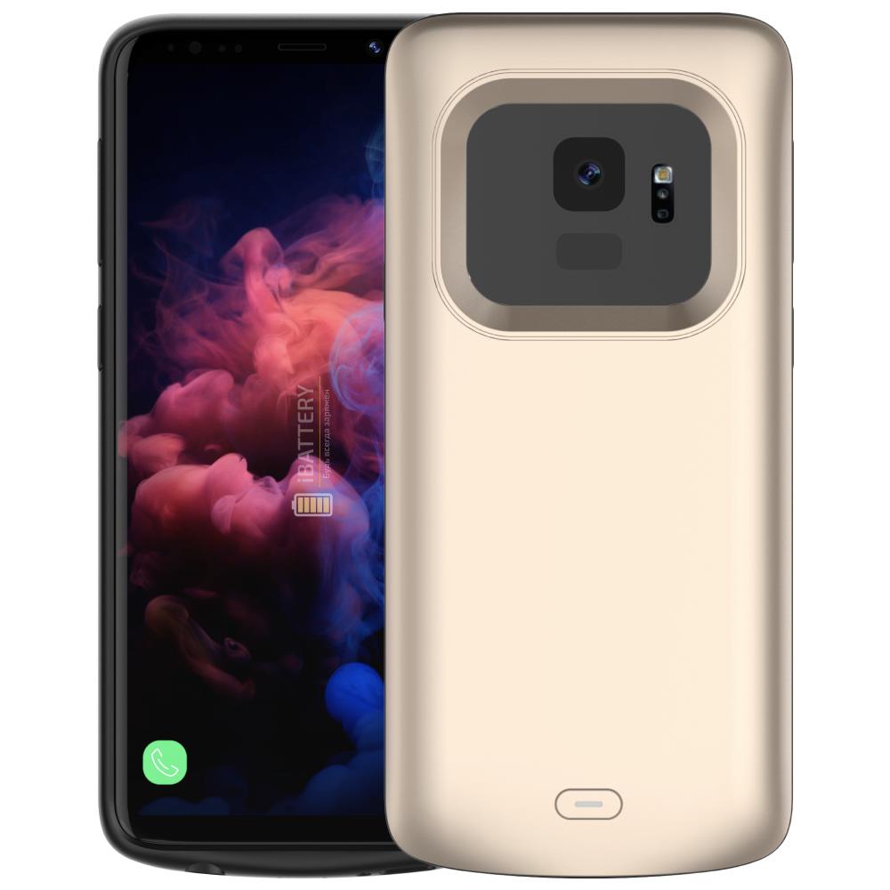 Чехол аккумулятор для Samsung S9 4700 mAh gold iBattery