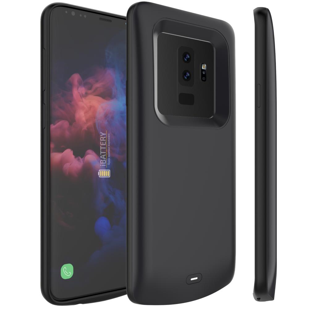 Чехол аккумулятор для Samsung S9 Plus 5200 mAh black iBattery