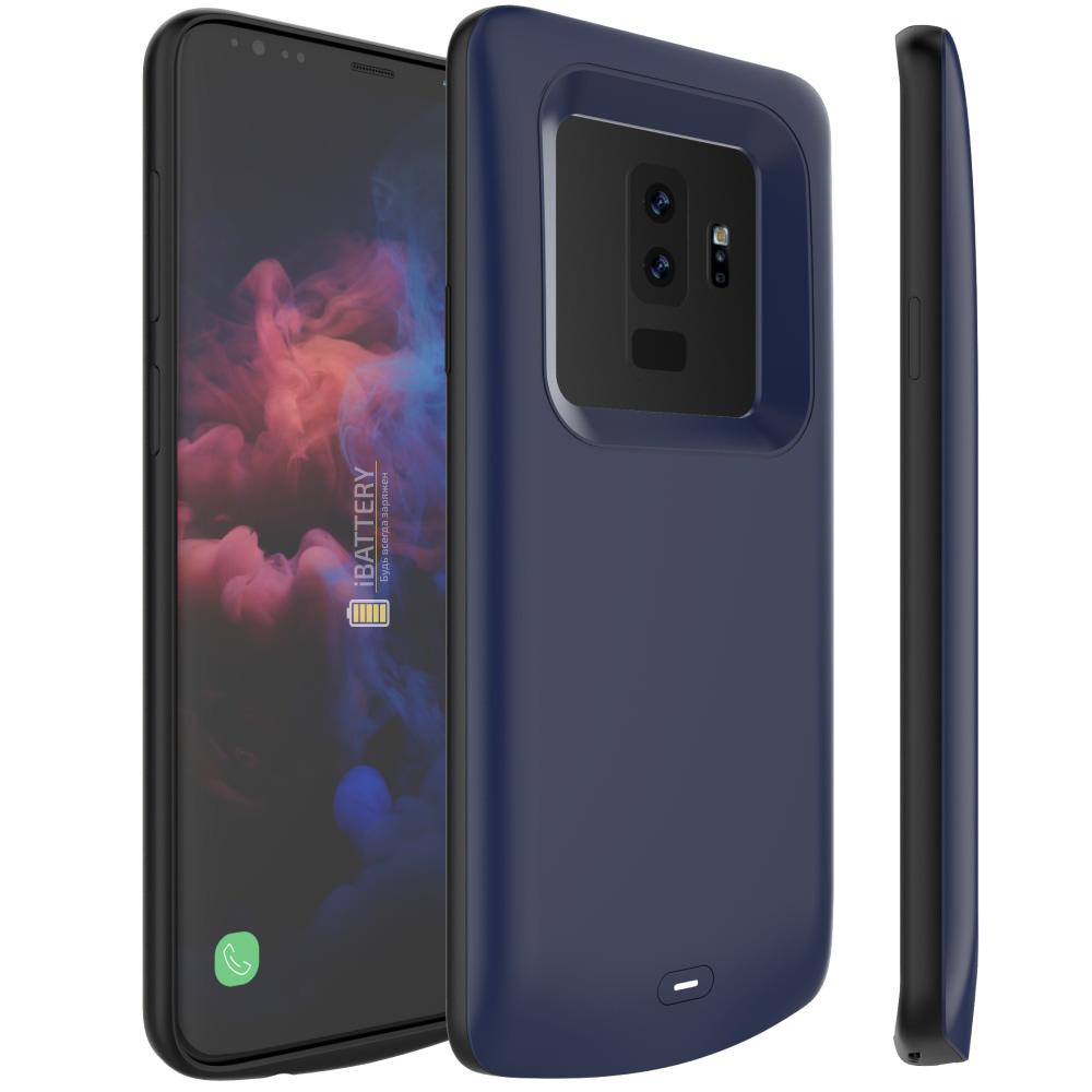 Чехол аккумулятор для Samsung S9 Plus 5200 mAh blue iBattery