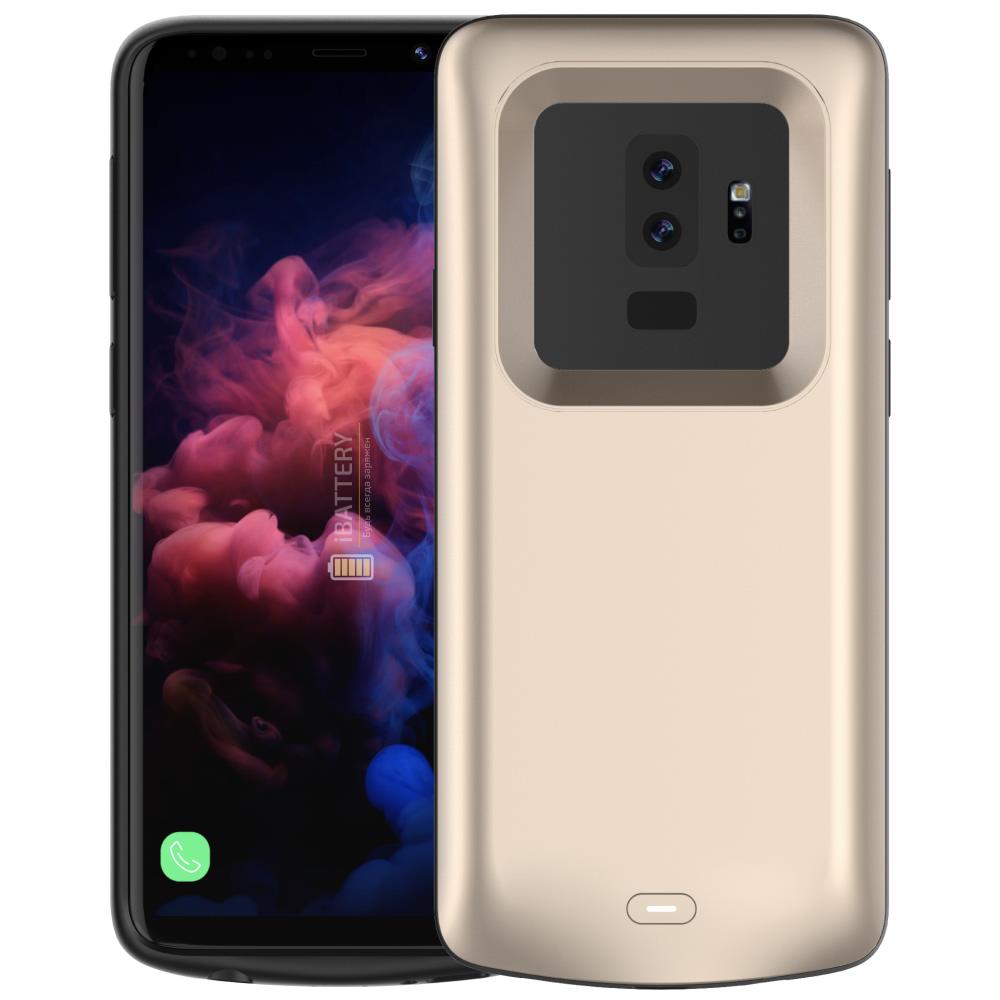 Чехол аккумулятор для Samsung S9 Plus 5200 mAh gold iBattery