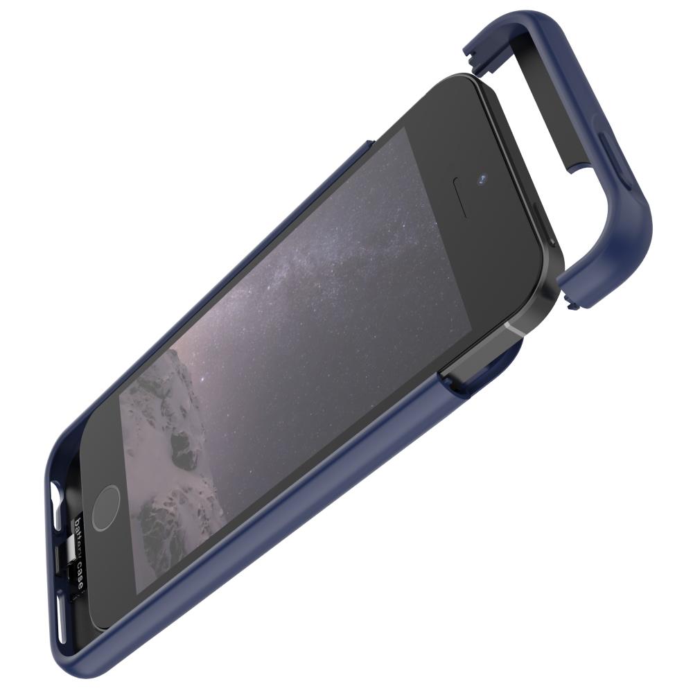 Чехол аккумулятор для iPhone 5/5s/SE 4000 mAh blue iBattery