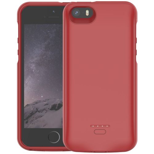 Чехол батарея для iPhone 5/5s/SE 4000 mAh red iBattery