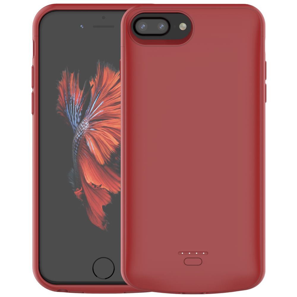 Чехол батарея для iPhone 6+/6s+/7+/8+ Plus 5500 mAh red