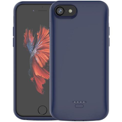 Чехол батарея для iPhone 6/6s/7/8 4000 mAh blue