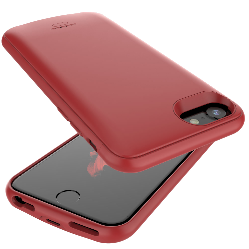 Чехол батарея для iPhone 6/6s/7/8 4000 mAh red