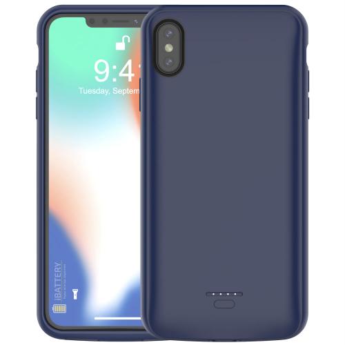 Чехол батарея для iPhone XS Max 5000 mAh blue